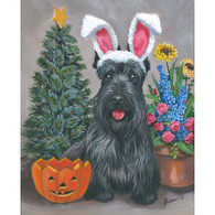 Scottie 4 seasons Note Cards