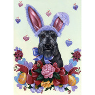 Scottie Easter Garden Flag