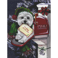 Westie Holiday Flag