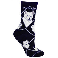 Westie Socks Black