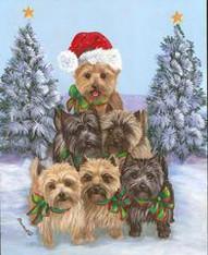 Cairn Terrier Tree Flag