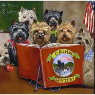 Cairn Terrier History Class Garden Flag