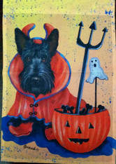 Scottie Scottish Terrier Boo Halloween Garden Flag