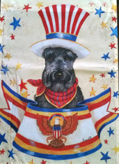 Scottie Scottish Terrier USA Flag