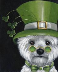 Westie St.Patricks Day Leprechaun Garden Flag