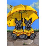 "Scottish Terriers Sunshine Twins 6"" Ceramic Tile"