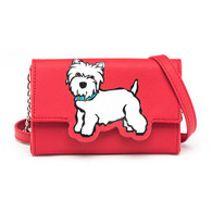 Westie wallet crossbody