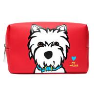Westie Cosmetic Bag large