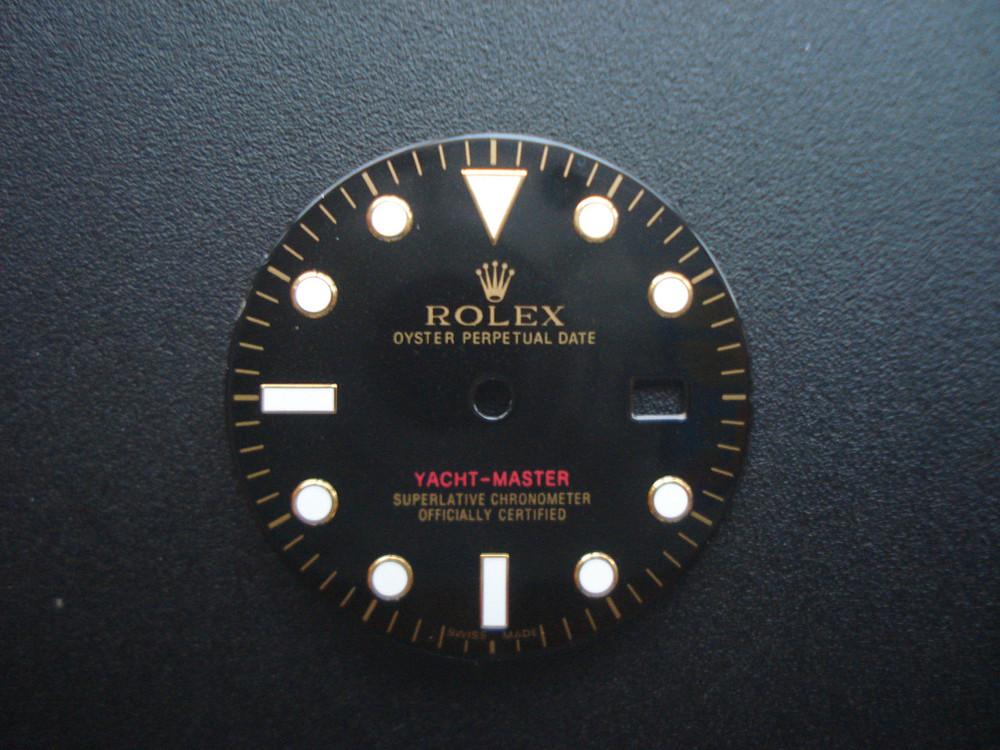 29.0mm Black Dial Marked Rolex Symbol For Mens 2,tone YACHT,MASTER Watch  Fit DG 2813 Automatic Movement