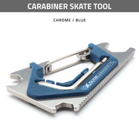 Carabiner Skate Tool - Chrome / Blue