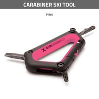 Carabiner Ski Tool - Pink