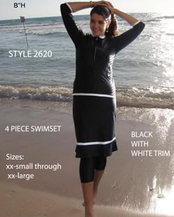 Aqua Modesta-Ladies Modest four piece swim set style 2620