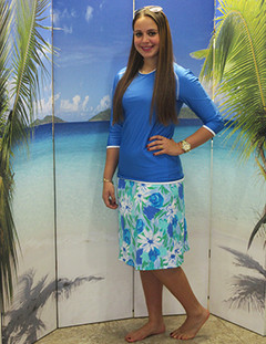style 2622 skirt  in seaflowers