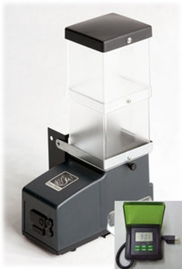 CSF-3 automatic cat feeder with outdoor power supply/digital timer and 50' wire for customer's own custom mount.