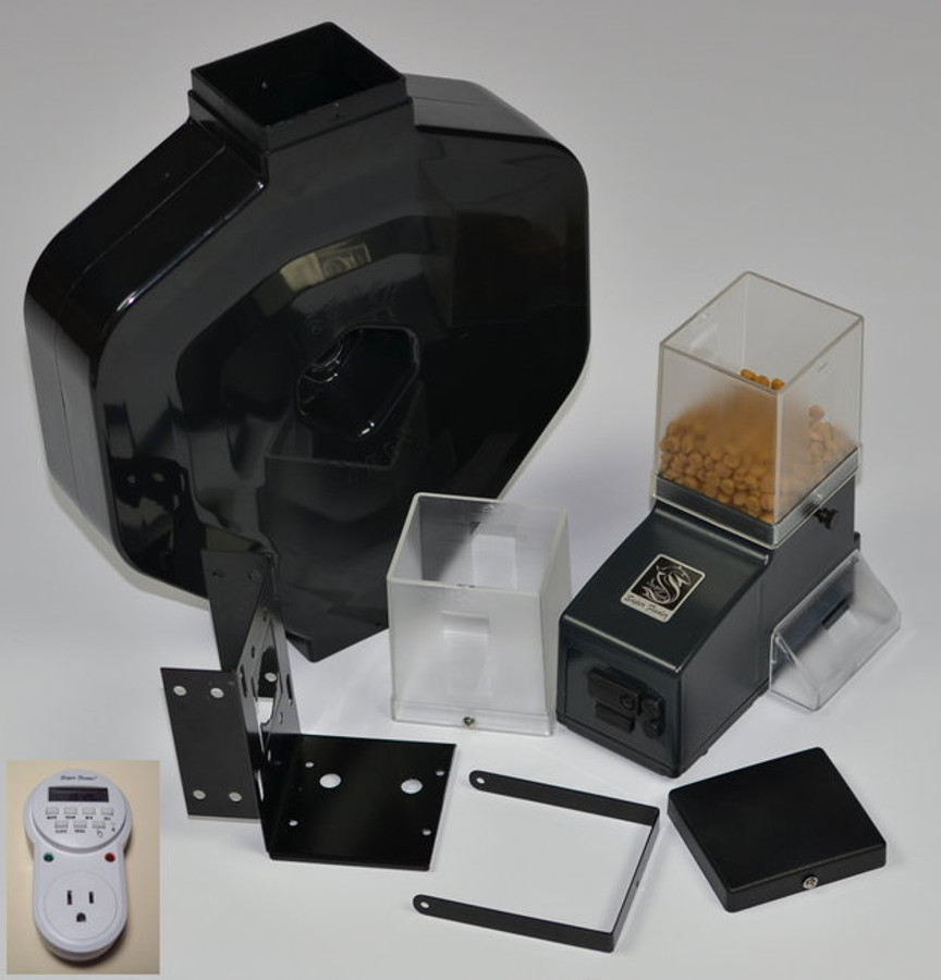 CSF-3XL cat feeder with indoor digital timer for custom mounting at customer's choice