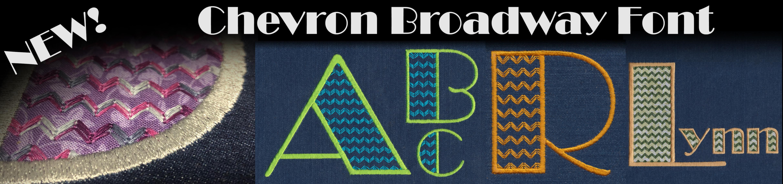728 Chevron Broadway Font