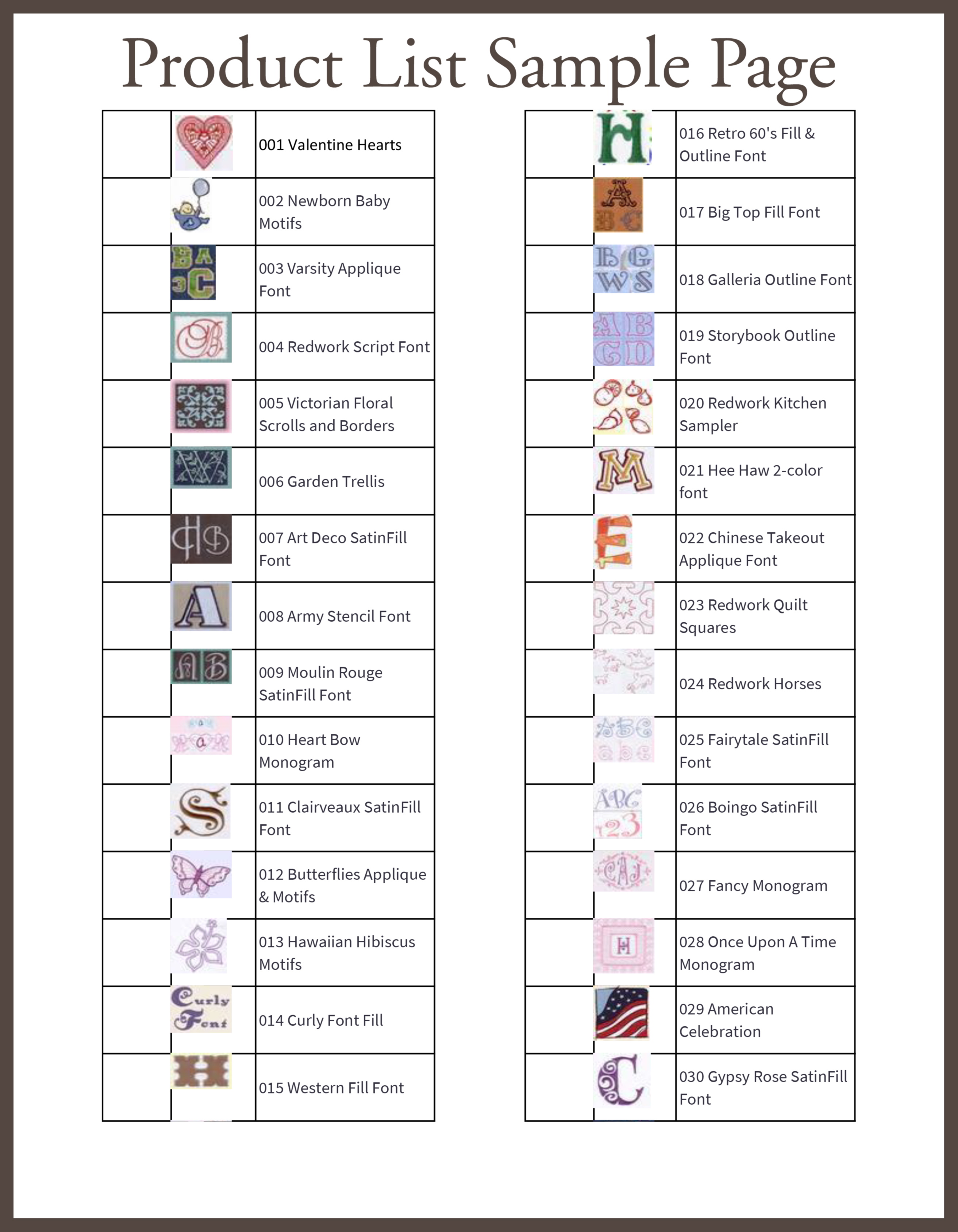Product List Page Sample