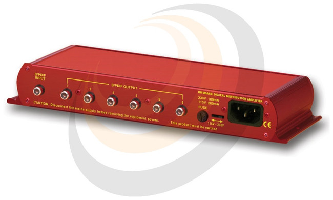 6 Way Stereo S/PDIF Digital Distribution Amplifier (24 bit, 96kHz Capable) - Image 1