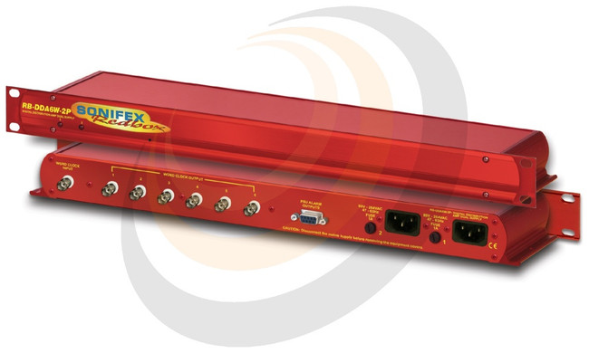 6 Way Word Clock Distribution Amplifier with Dual Power Supplies - Image 1
