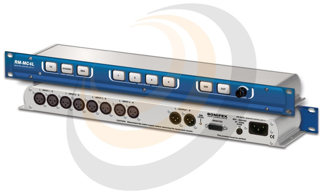 Monitor Controller 4 Stereo Inputs With Light Control - Image 1