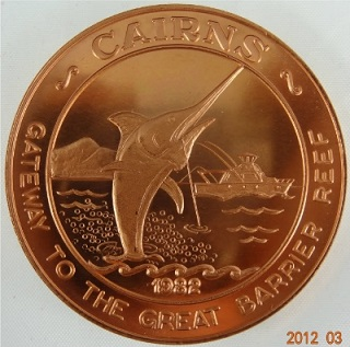 Cairns Tourist Dollar Obverse