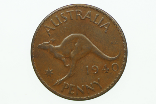 1940 K.G Penny George VI in Very Fine Condition Reverse
