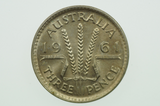 1961 Threepence in Uncirculated Condition Reverse