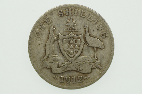 1912 Shilling George V in Very Good Condition Reverse