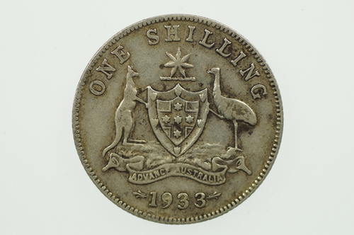 1933 Shilling George V in Almost Fine Condition Reverse