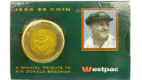 1996 A Special Tribute To Donald Bradman $5 Uncirculated Coin