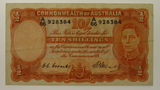 Australian 1949 Ten Shillings Coombs / Watt Banknote in Very Fine Condition
