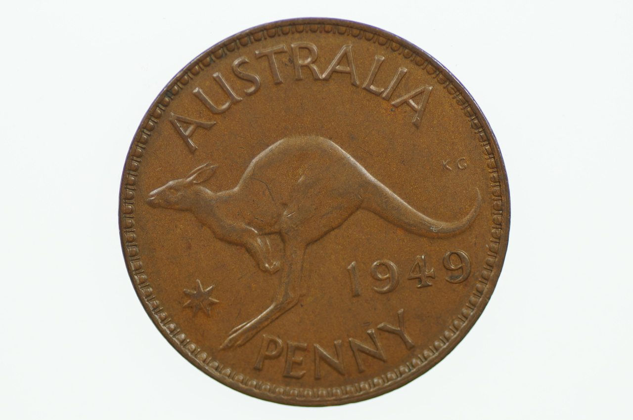 Australian 1949 Penny George VI in Uncirculated Condition