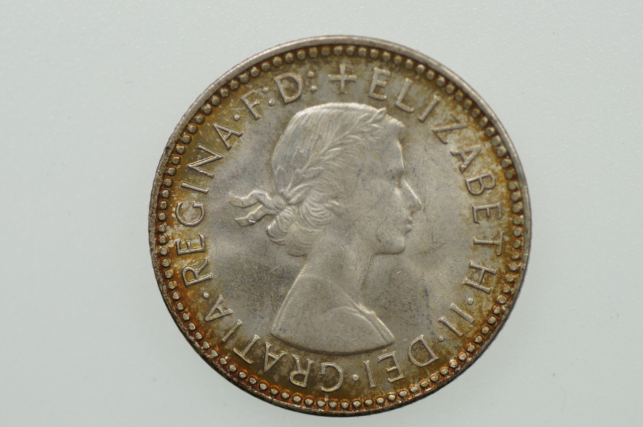 1963 Sixpence Elizabeth II in Uncirculated Condition Obverse