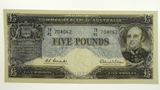 1960 Five Pounds Coombs / Wilson First Prefix TB/41 704062 Banknote in Unc Condition