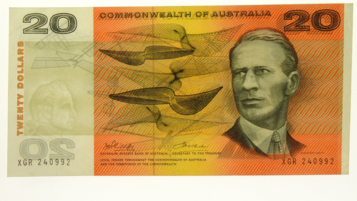 Commonwealth of Australia 1972 Twenty Dollars Phillips / Wheeler Banknote in Almost Extremely Fine Condition