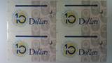 Australian 1994 Dated Annual Issues $10 Deluxe Low Blue Numbered Consecutive Run of Four Uncirculated Banknote Folders