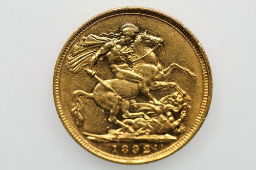 1892 Sydney Mint Gold Sovereign Victoria Jubilee Head in Very Fine Condition