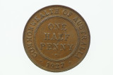 1927 Half Penny George V in Almost Uncirculated Condition Reverse