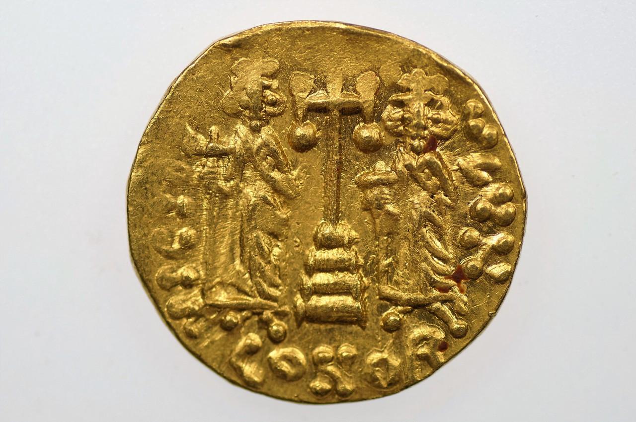 AD 668-685 Byzantine Empire Constantine IV Solidus Reverse