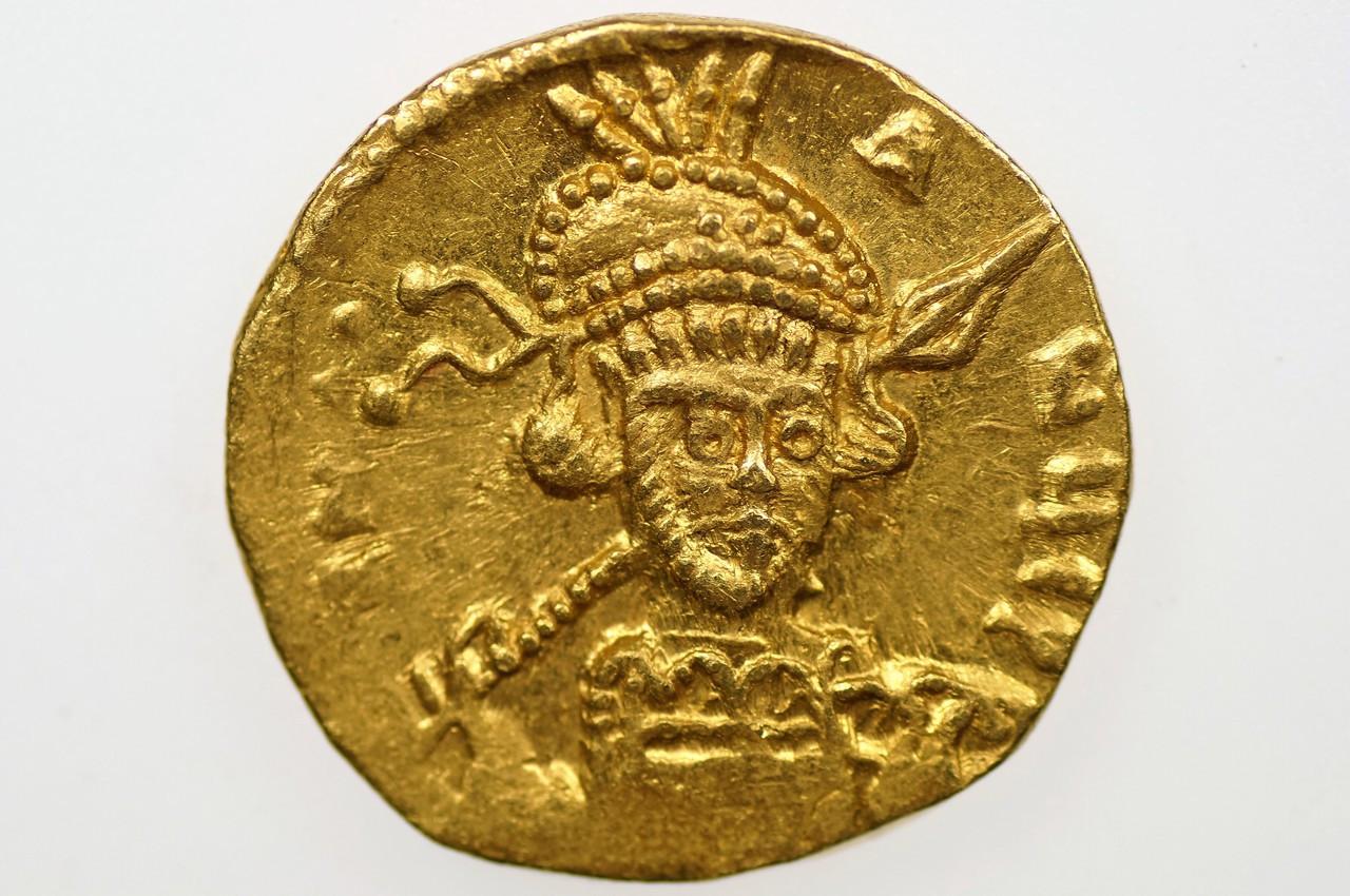 AD 668-685 Byzantine Empire Constantine IV Solidus Obverse