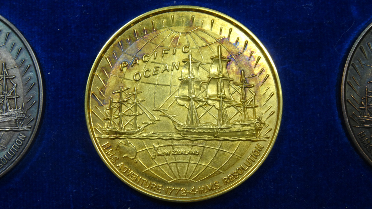 Captain James Cook's 2nd Voyage Gold Medal Reverse