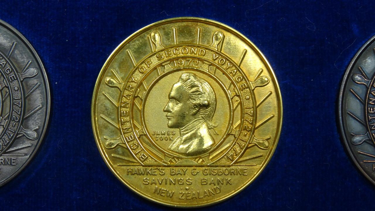 Captain James Cook's 2nd Voyage Gold Medal Obverse
