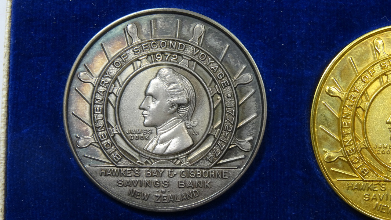 Captain James Cook's 2nd Voyage Silver Medal Obverse