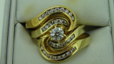 18ct Yellow Gold Bridal Set Diamond Engagement Ring