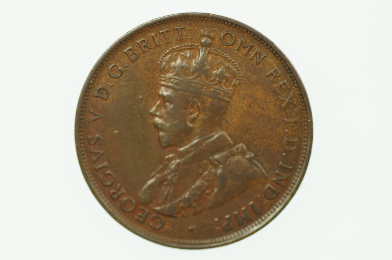 1929 Penny George V in Very Fine Condition Obverse