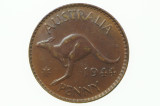 1944 Penny George VI in Extremely Fine Condition Reverse