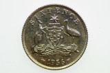 1956 Sixpence Elizabeth II in Proof Condition Reverse