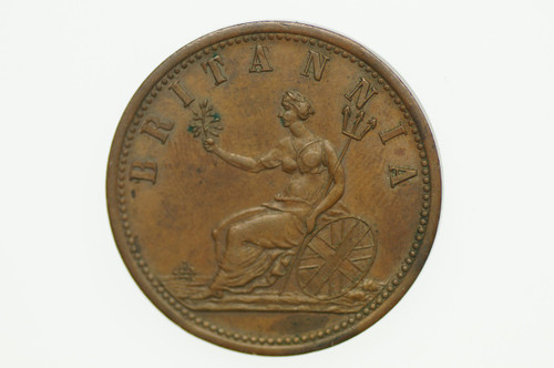 Booth, I Penny Token in Almost Uncirculated Condition Reverse