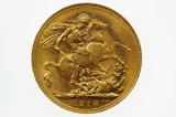 1918 Perth Mint Gold Full Sovereign in Very Fine Condition