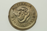 1958 Shilling Variety Error Mis-Strike in Uncirculated Condition Reverse